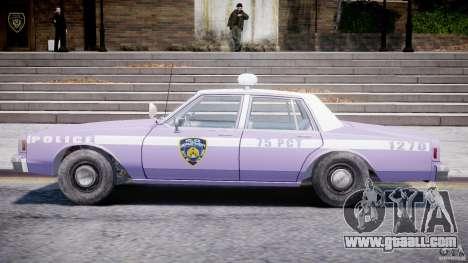 Chevrolet Impala Police 1983 v2.0 for GTA 4 back left view