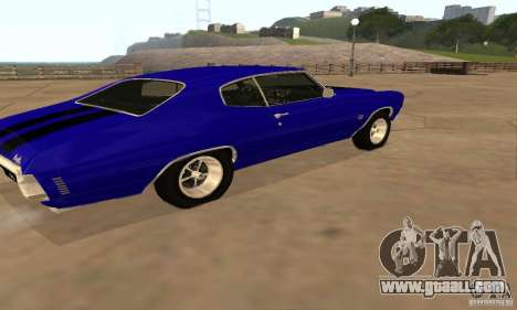 Chevrolet Chevelle SS 1970 for GTA San Andreas back view