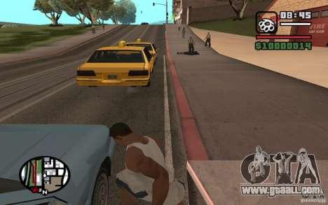 Knife throwing for GTA San Andreas third screenshot