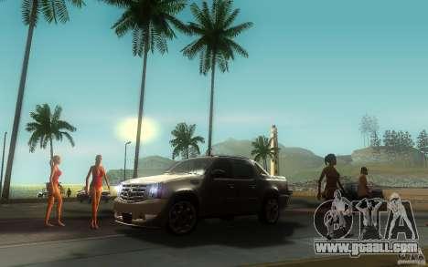 Cadillac Escalade EXT for GTA San Andreas back view
