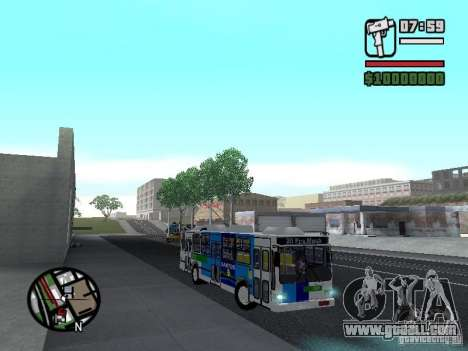 Cobrasma Monobloco Patrol II Trolerbus for GTA San Andreas back view