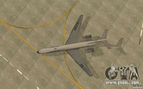 Aeroflot Il-62 m for GTA San Andreas back view