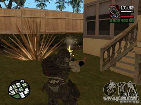 Lokast Grunt from Gears of War 2 for GTA San Andreas third screenshot