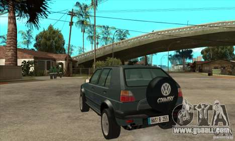 Volkswagen Golf Country MkII Syncro 4x4 1991 for GTA San Andreas back left view