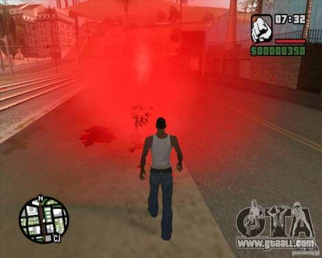 Passers-by exploding brains for GTA San Andreas