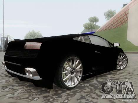 Lamborghini Gallardo LP-560 Police for GTA San Andreas left view