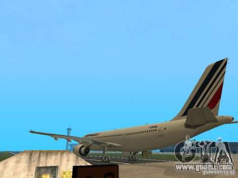 Airbus A300-600 Air France for GTA San Andreas right view