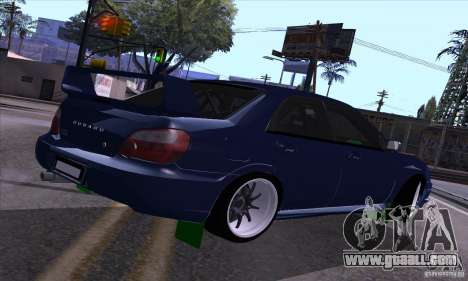 Subaru Impresa WRX light tuning for GTA San Andreas right view