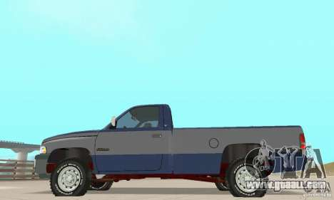 Dodge Ram 2500 1994 for GTA San Andreas right view