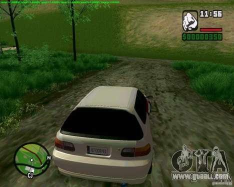 Honda Civic Hellaflush for GTA San Andreas left view