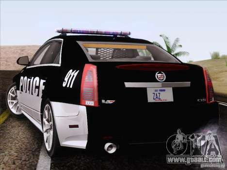Cadillac CTS-V Police Car for GTA San Andreas left view