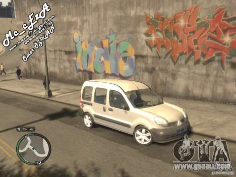 Renault Kangoo 2007 for GTA 4 back left view