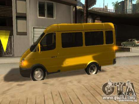 Gazelle 2705 taxi for GTA San Andreas inner view