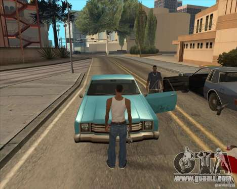 Drivers get out of the car for GTA San Andreas second screenshot