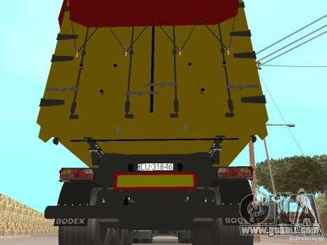 Trailer TIPPERS for GTA San Andreas inner view