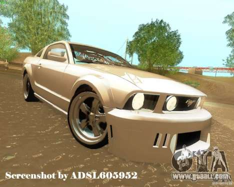 Ford Mustang GT 2005 Tunable for GTA San Andreas upper view