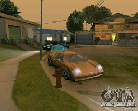 Infernus from Vice City for GTA San Andreas left view