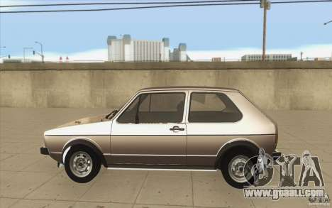 Volkswagen Golf Mk1 - Stock for GTA San Andreas left view