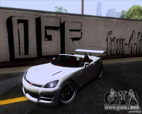 Saturn Sky Roadster for GTA San Andreas
