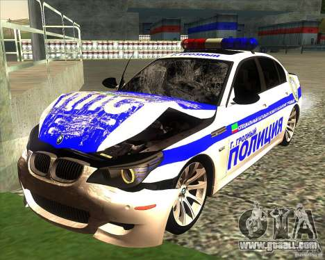 BMW M5 E60 Police for GTA San Andreas interior