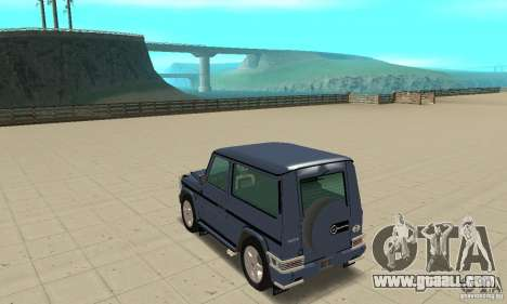 Mercedes-Benz G500 1999 Short [with kangoo v2] for GTA San Andreas back left view