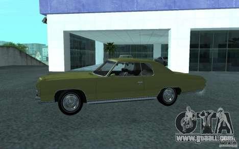 Chevrolet Impala 1971 for GTA San Andreas right view