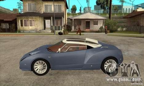 Spyker C12 Zagato for GTA San Andreas left view