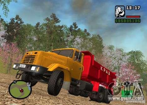 KrAZ 65055 Truck for GTA San Andreas inner view