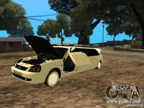 LADA 2170 Priora Limousine for GTA San Andreas back left view
