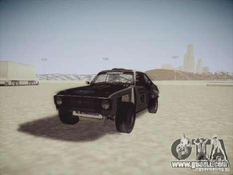 Ford Escort MK2 Gymkhana for GTA San Andreas