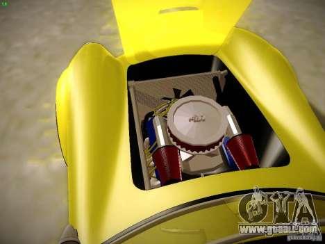 Shelby Cobra 427 for GTA San Andreas bottom view