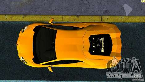 Lamborghini Aventador LP 700-4 for GTA Vice City back view