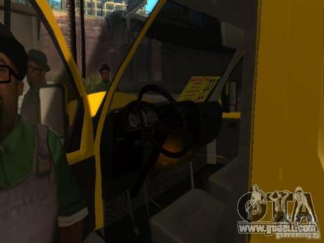 Gazelle 2705 taxi for GTA San Andreas back view