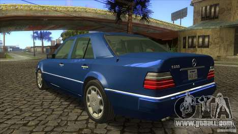 Mersedes-Benz E500 for GTA San Andreas back view