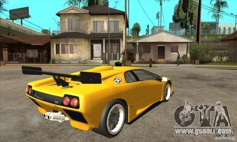 Lamborghini Diablo GT-R 1999 for GTA San Andreas right view