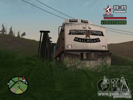61-779 compartment car for GTA San Andreas back left view