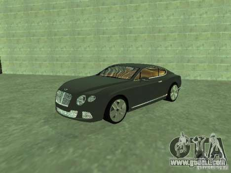 Bentley Continental GT 2010 V1.0 for GTA San Andreas