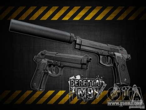 Barreta M9 and Barreta M9 Silenced for GTA San Andreas