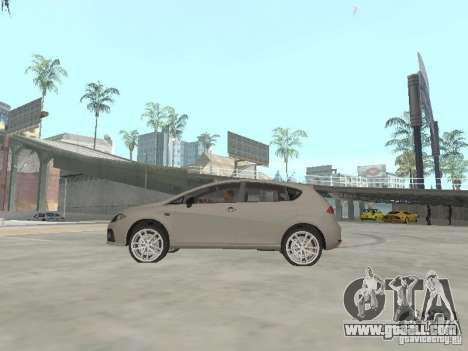 Seat Leon Cupra for GTA San Andreas left view