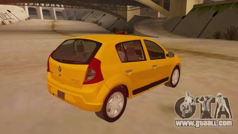 Renault Sandero Taxi for GTA San Andreas right view