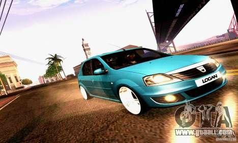 Dacia Logan 2008 for GTA San Andreas upper view