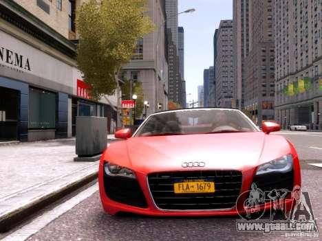 Audi R8 Spyder 5.2 FSI quattro V4 EPM for GTA 4 upper view