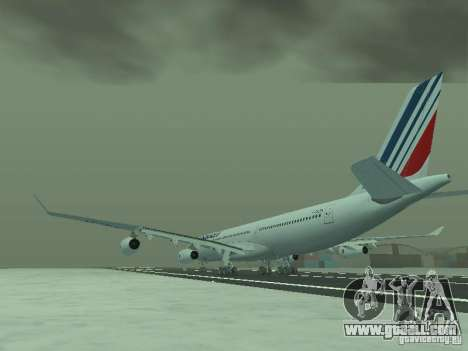Airbus A340-300 Air France for GTA San Andreas back left view