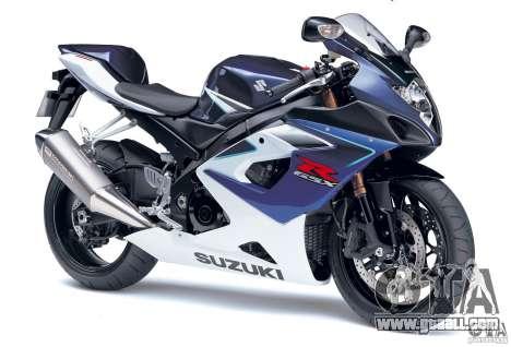 Suzuki GSX-R 1000 for GTA Vice City right view