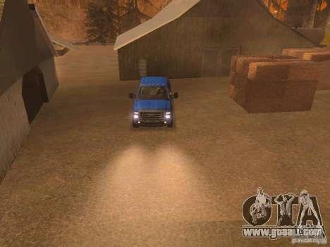 Ford F350 for GTA San Andreas interior