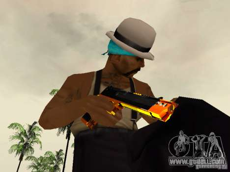 Black and Yellow weapons for GTA San Andreas