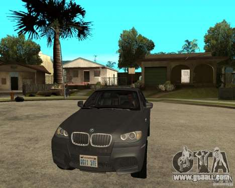 BMW X6 M for GTA San Andreas back view