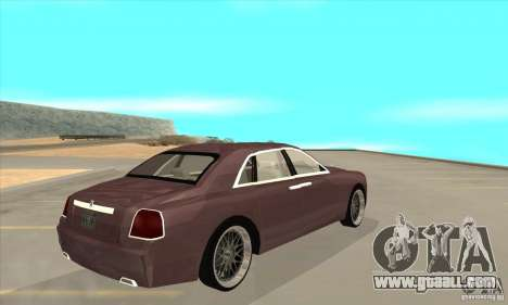 Rolls-Royce Ghost 2010 for GTA San Andreas right view