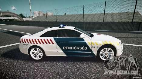 Audi S5 Hungarian Police Car white body for GTA 4 inner view