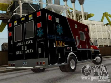 Ford E-350 AMR. Bone County Ambulance for GTA San Andreas side view